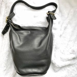 Authentic Classic 100% Leather Coach Duffle Bag